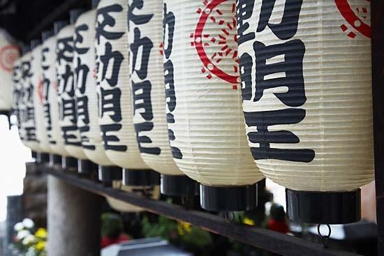 Lanterns in Osaka, Japan